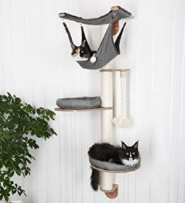 Katzenkratzbaum mit Hängematte