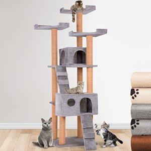 Katzenkratzbaum in grau