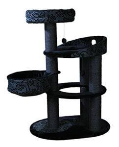 Katzenkratzbaum in Schwarz